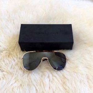 Kendall & Kylie Layla Shielded Aviator Sunglasses